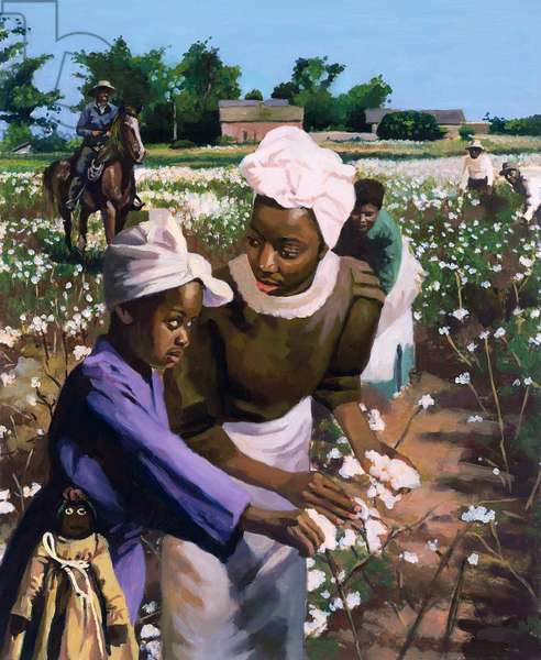 Cotton Pickers, 2003 (oil on board)