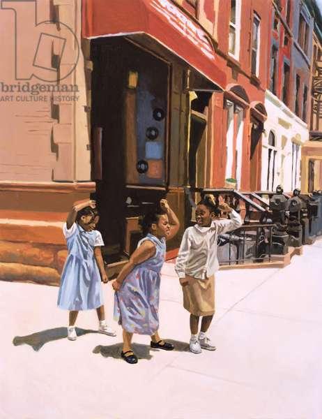 Harlem Jig, 2001 (oil on board)
