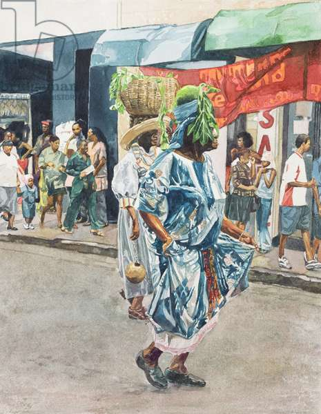 Street Dance, 2002 (w/c on paper)