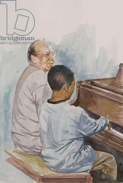 The Piano Lesson, 2003 (w/c on paper)