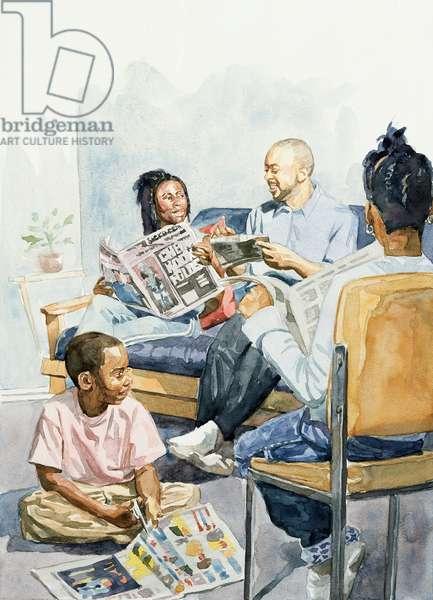 Living Room Serenades, 2003 (w/c on paper)