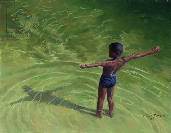 Me, 2011, (oil on wood)