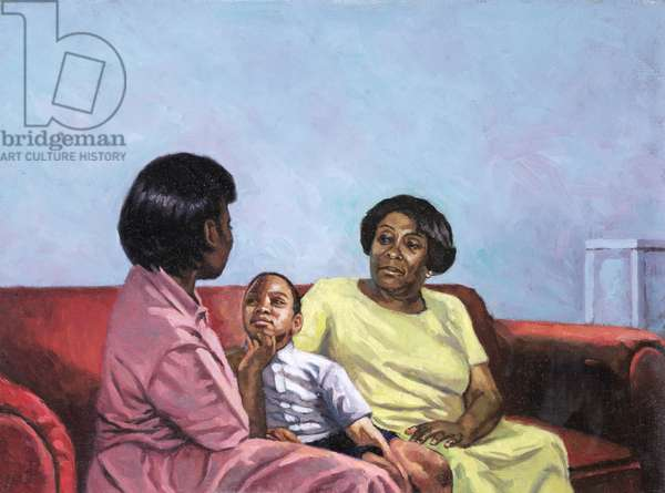 A Mother's Strength, 2001 (oil on canvas)