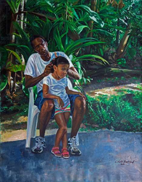 Grandfather and Child, 2010 (oil on linen)