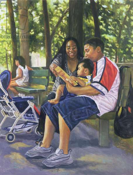 Family in the Park, 1999 (oil on canvas)
