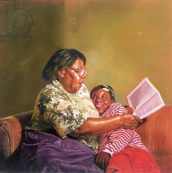Grandma's Love, 1995 (oil on board)
