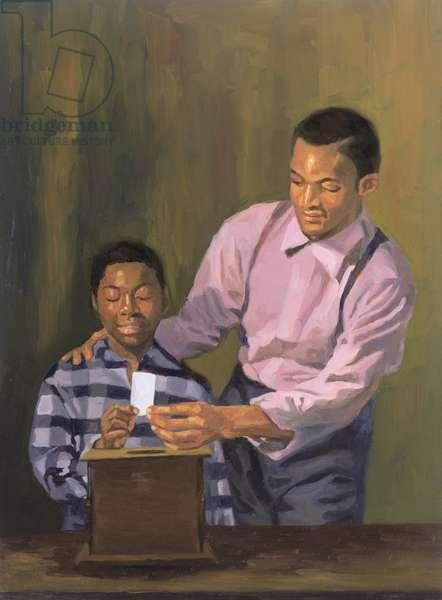 The Ballot Box, 2003 (oil on canvas)