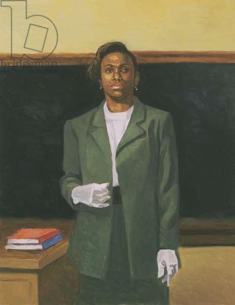 The Teacher, 2001 (oil on board)
