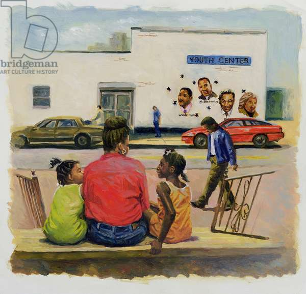 Summer City Stoop, 2000 (oil on canvas)