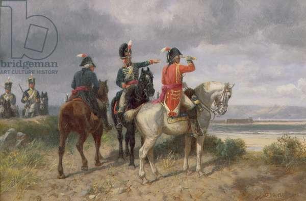 A Reconnaissance Party (oil on canvas)
