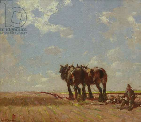 The Ploughman's Mid-day Rest (oil on canvas)
