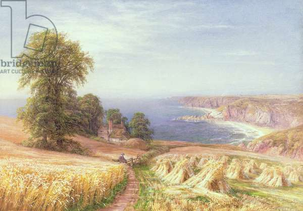 Harvest time by the Sea, 1881 (w/c on paper)