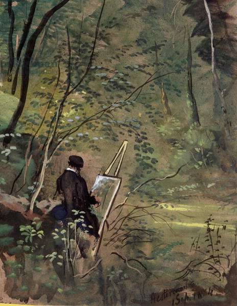Hestercombe Woods, Somerset 1834 (w/c and gouache)
