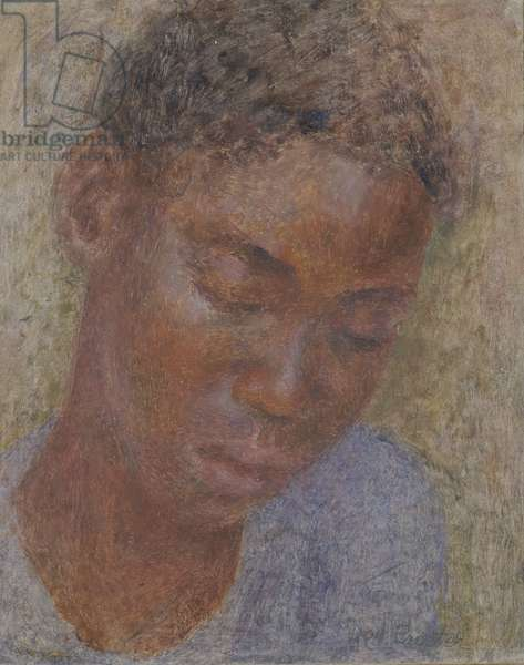 Study of an African Boy (oil on canvas)