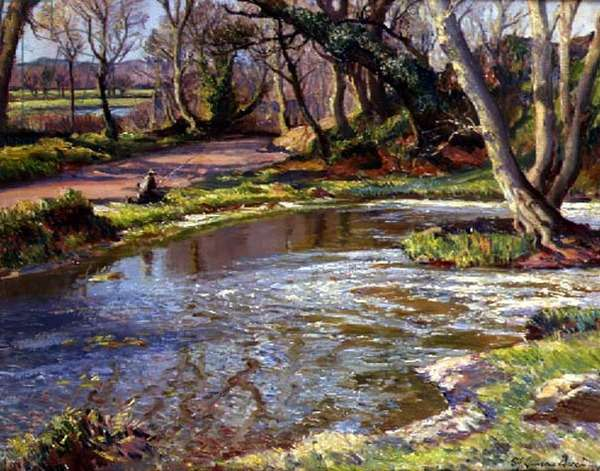 The Pool under the Mill (oil on canvas)