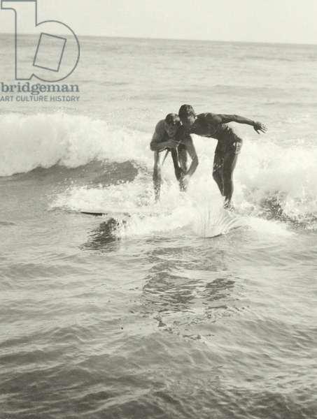 The Surf Riders of Hawaii, 1914 (b/w photo)