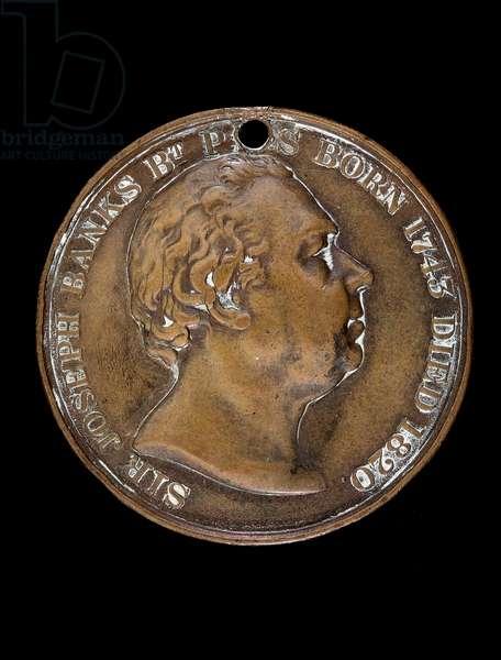 Sir Joseph Banks portrait medal, Royal Horticultural Society, c.1820 (bronze)