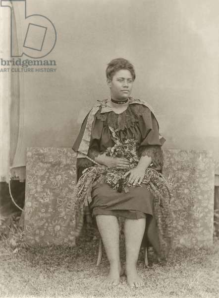 Ofa: The Late Madame, Tongan woman (b/w photo)