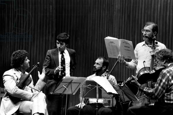 Vermeer String Quartet with Murray Perahia (2nd from left) in 1985