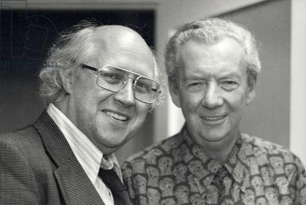Benjamin Britten & Mistislav (Mstislav) Rostropovich in 1976 at Aldeburgh