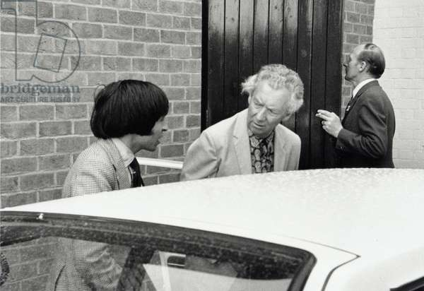 Benjamin Britten with Murray Perahia at Aldeburgh, 1975