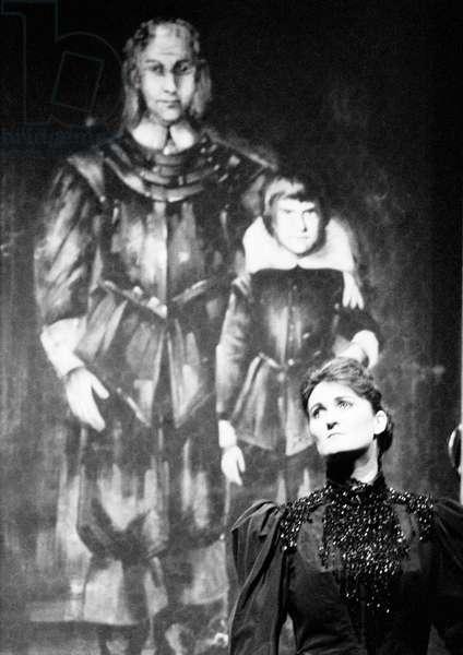 Benjamin Britten 's opera 'Owen Wingrave' with Louise Camens as 'Mrs