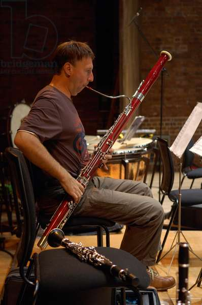 Bassoonist of the Northern Sinfonia at the Aldeburgh Music Festival, Snape Maltings, Suffolk, UK, June 2007