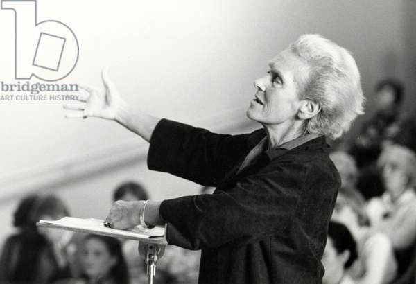 Elisabeth Schwarzkopf  - portrait of the German born English soprano giving a masterclass in 1981
