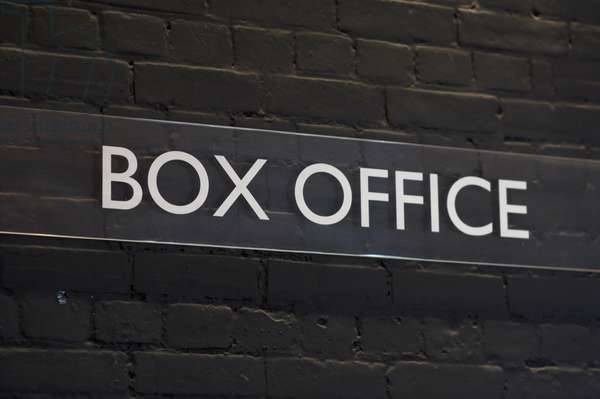 Sign Reading 'Box Office' at Snape Maltings Concert Hall