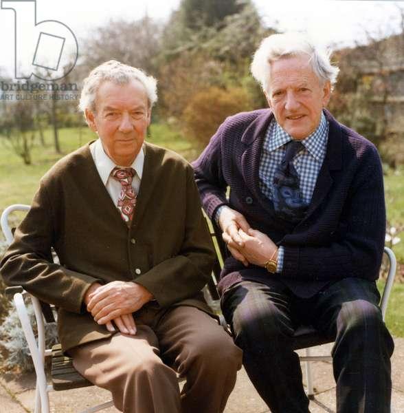 Benjamin Britten & Peter Pears in 1976 at  Aldeburgh