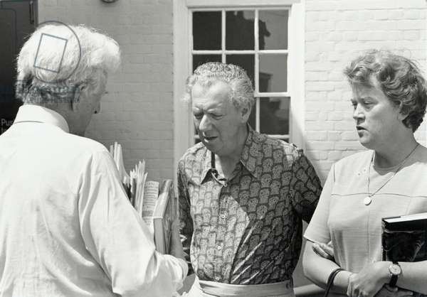 Benjamin Britten with Peter Pears & Rita Thompson in 1976, Aldeburgh