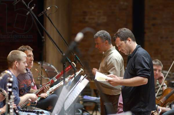 Thomas Adès - British composer and conductor at rehearsal with members of Northern Sinfonia, Aldeburgh Music Festival, Snape Maltings, Suffolk, UK, June 2007