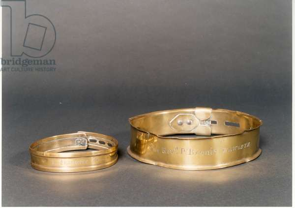 Emily Bronte's dog's collars (photo)