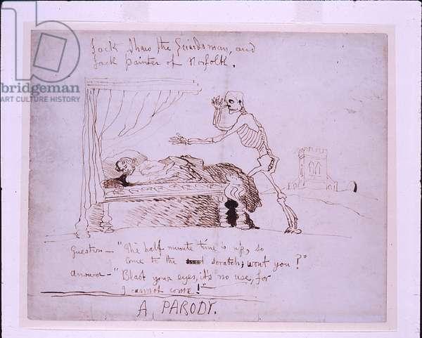 A Parody, 22 July 1848 (pen & ink on paper)
