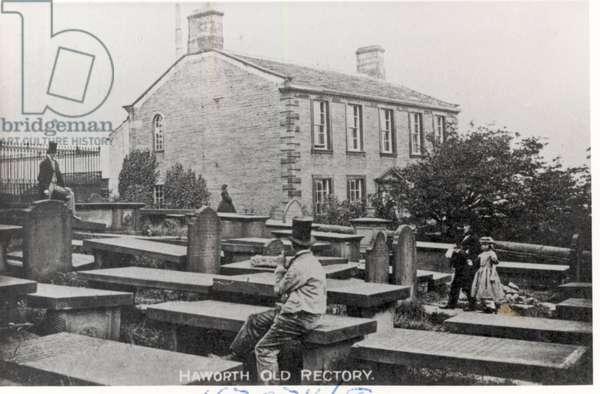Haworth Parsonage, Pre-Wade Extension c.1878 (b/w photo)