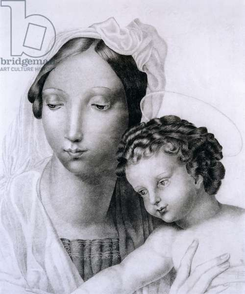 Madonna and Child (pencil on paper)