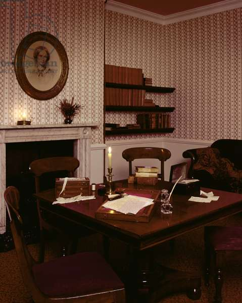 The Dining Room at the Bronte Parsonage Museum, Haworth, Yorkshire (photo)