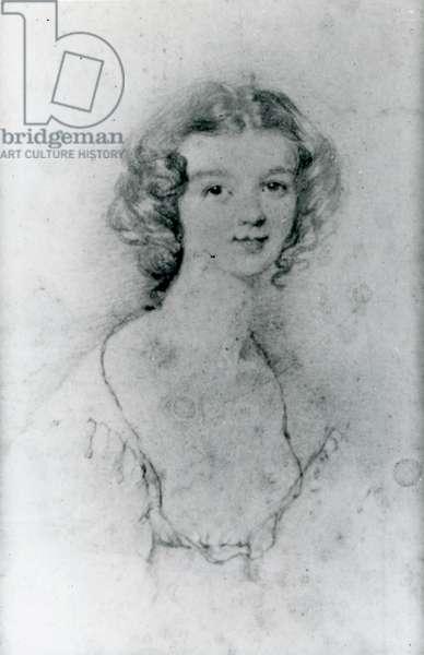 Portrait of Ellen Nussey (pencil on paper)