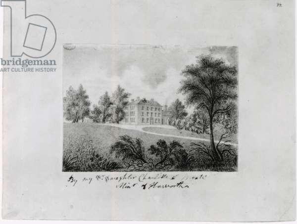 The Roe Head School, c.1831-32 (conte on paper)