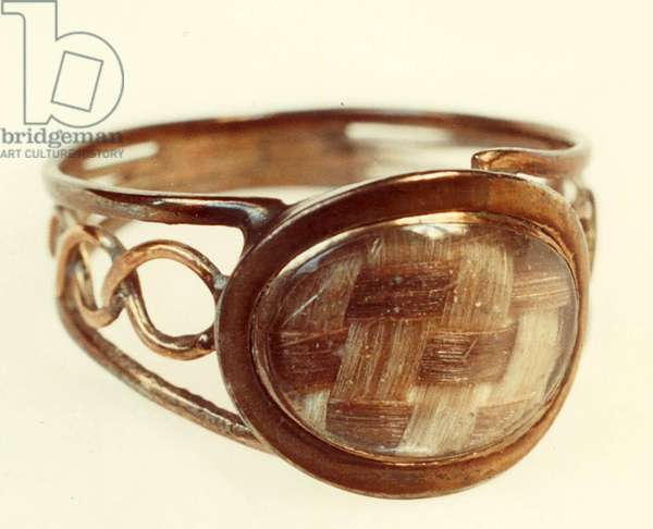 Ring with Patrick Branwell and Emily Bronte's hair (photo)