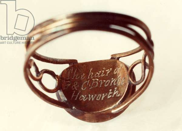 Interior of a Ring with Patrick Branwell and Emily Bronte's hair (photo)