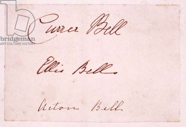Autograph signatures of Currer, Ellis and Acton Bell, 23 July 1846 (pen & ink on paper)