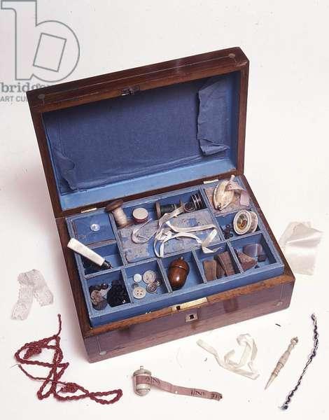 Charlotte Bronte's workbox (photo)