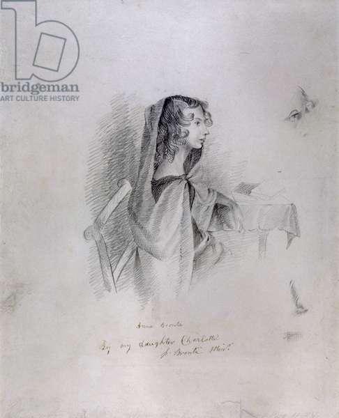 Anne Bronte (1820-49), 1833 (pencil on paper)