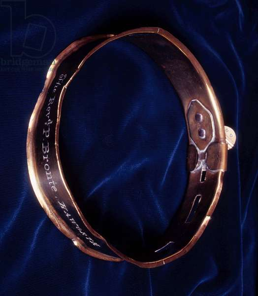 Emily Bronte's dog 'Keeper's' collar (photo)
