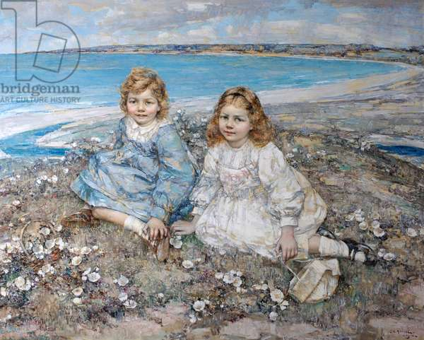 The Daughters of Bertram F. Roberts, 1910 (oil on canvas)