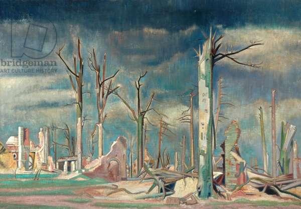 Avenue at Bourlon, Western Front (oil on canvas)