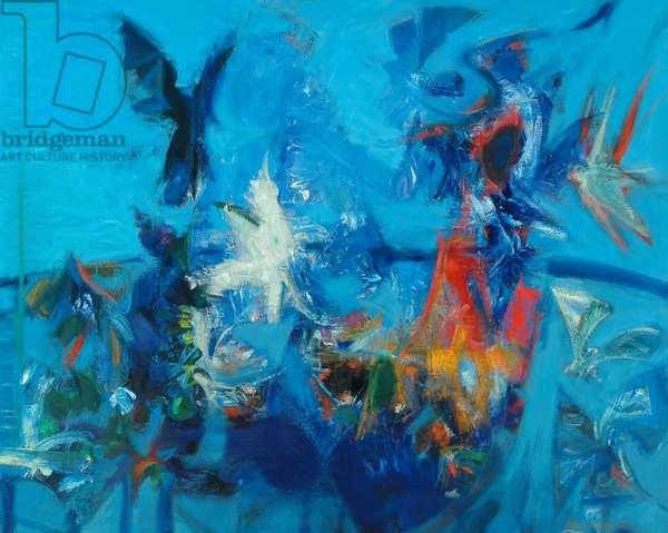 Birds against the Sea, 1963 (oil on canvas)