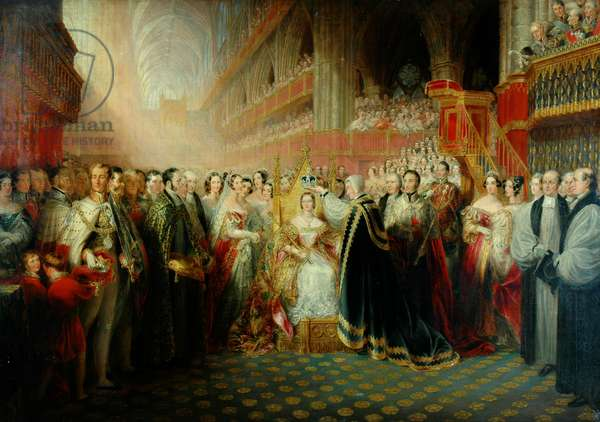 Coronation of Queen Victoria (oil on canvas)