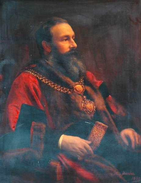 Sir Angus Holden, 1880 (oil on canvas)